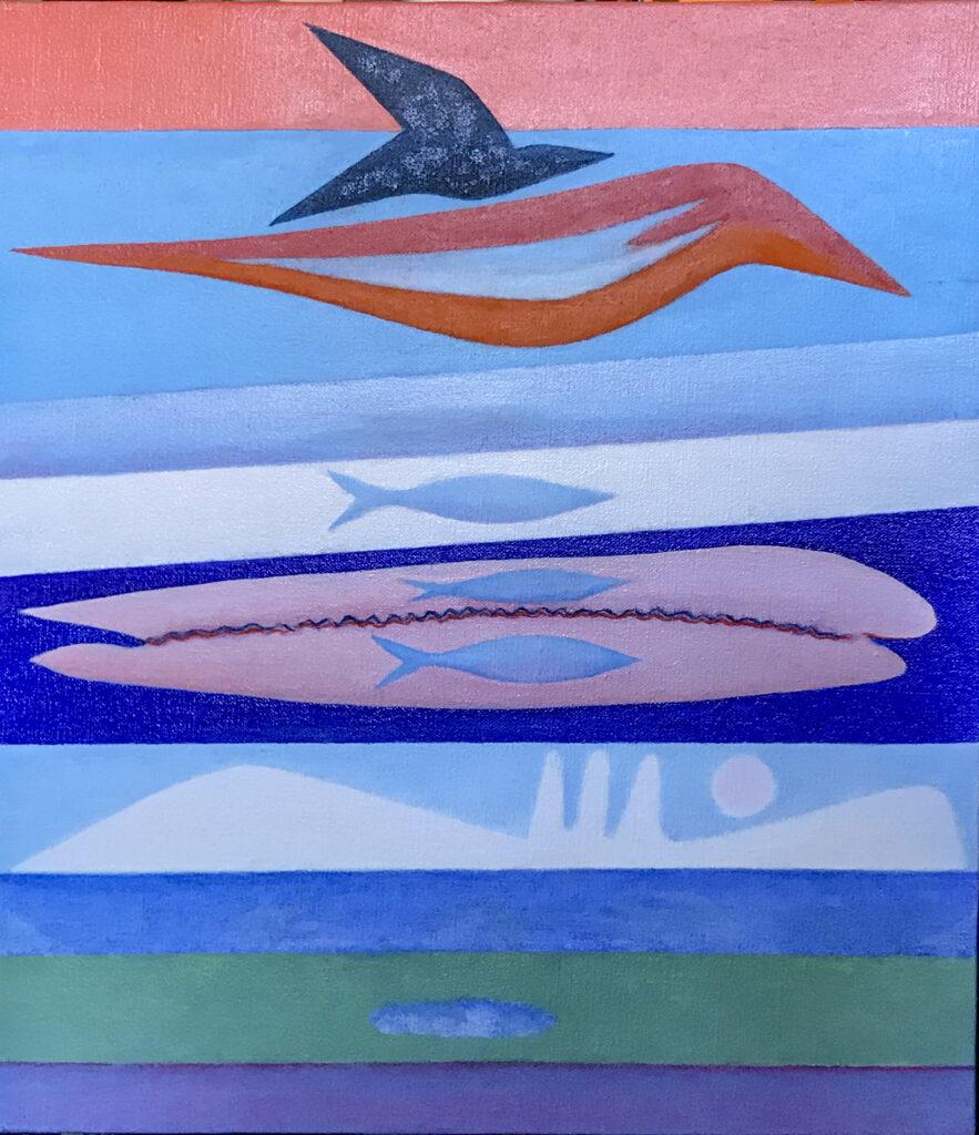 Pesci e uccelli, 2018 (35x40)
