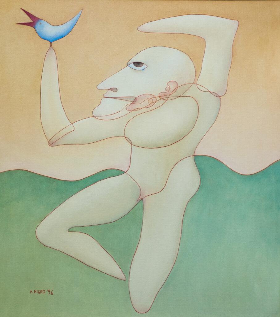 Danzatore con uccello, 1996