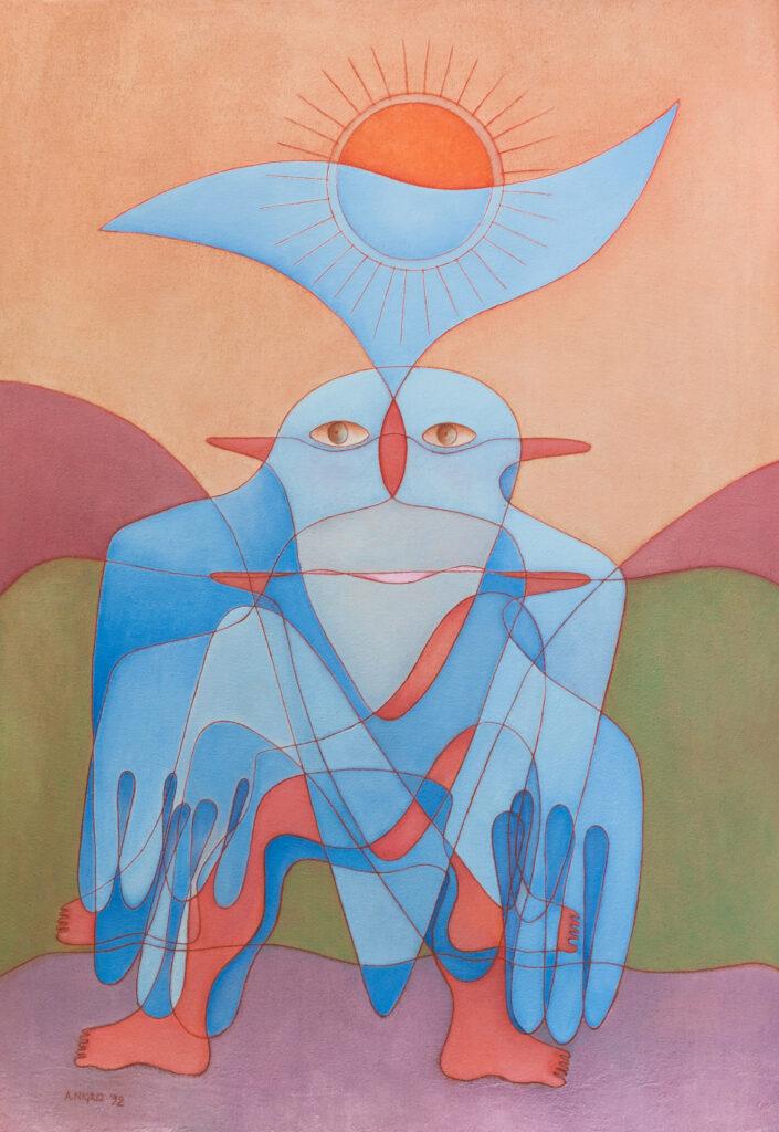Tramonto con miraggio, 1992