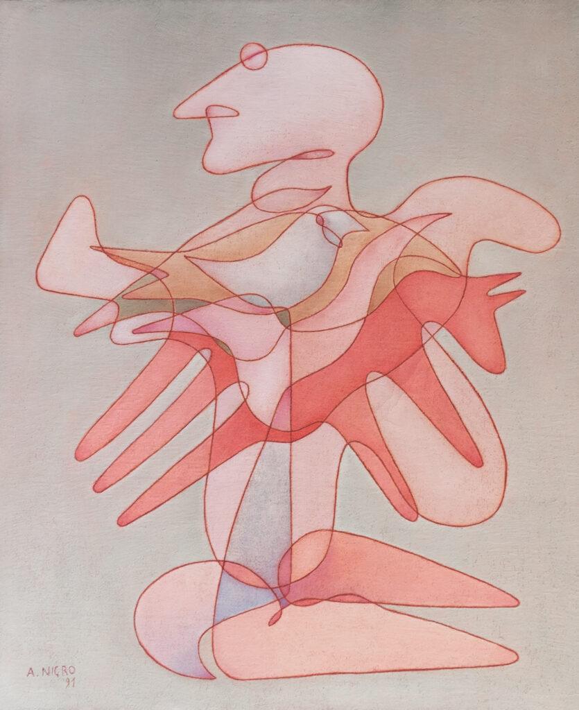 Cavallo, cavaliere e uccello, 1991
